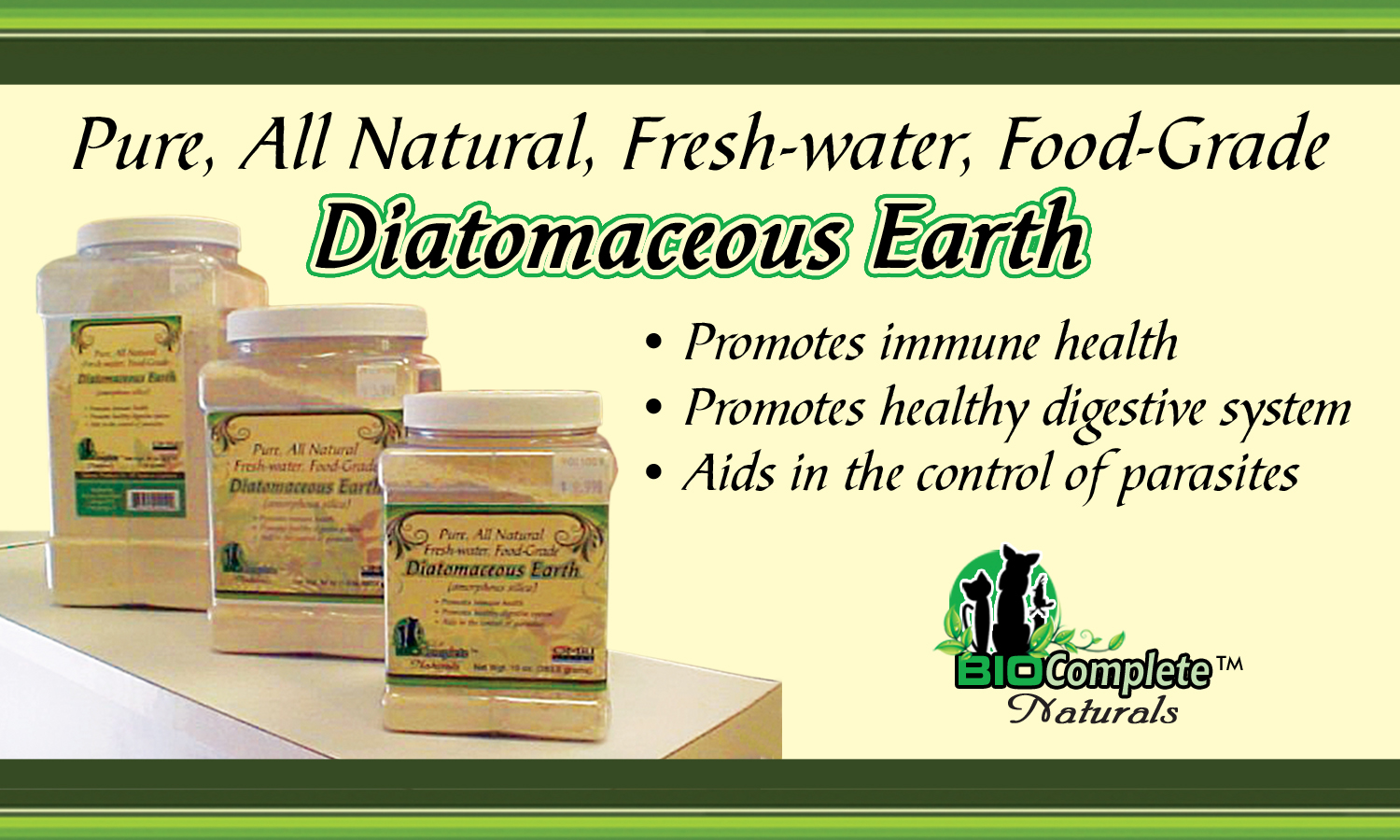 Estimated 1,500 Ways DE Is Beneficial To Humans, Plants And Animals. Click For More Information And To Purchase