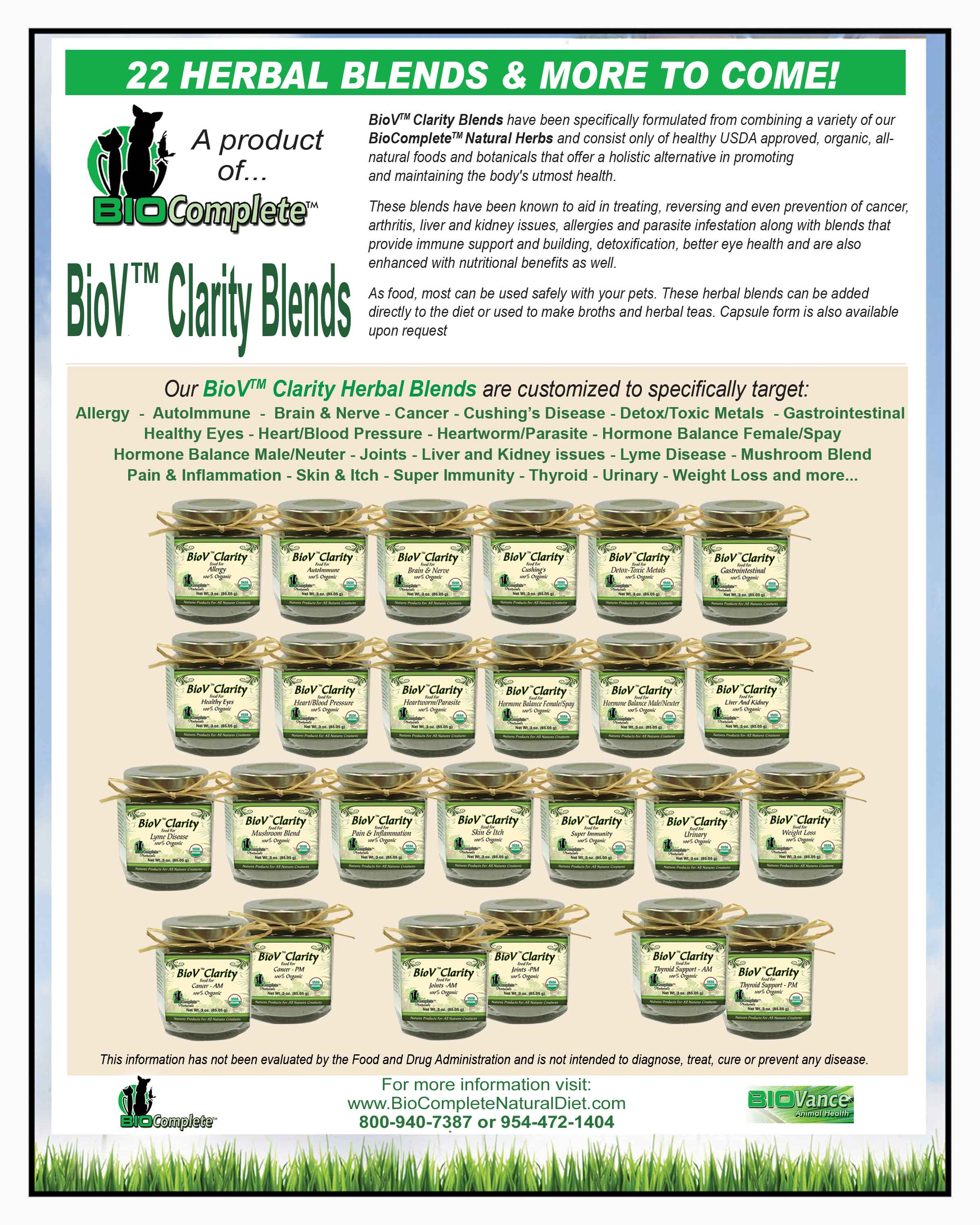 BioV Clarity Herbal Blends