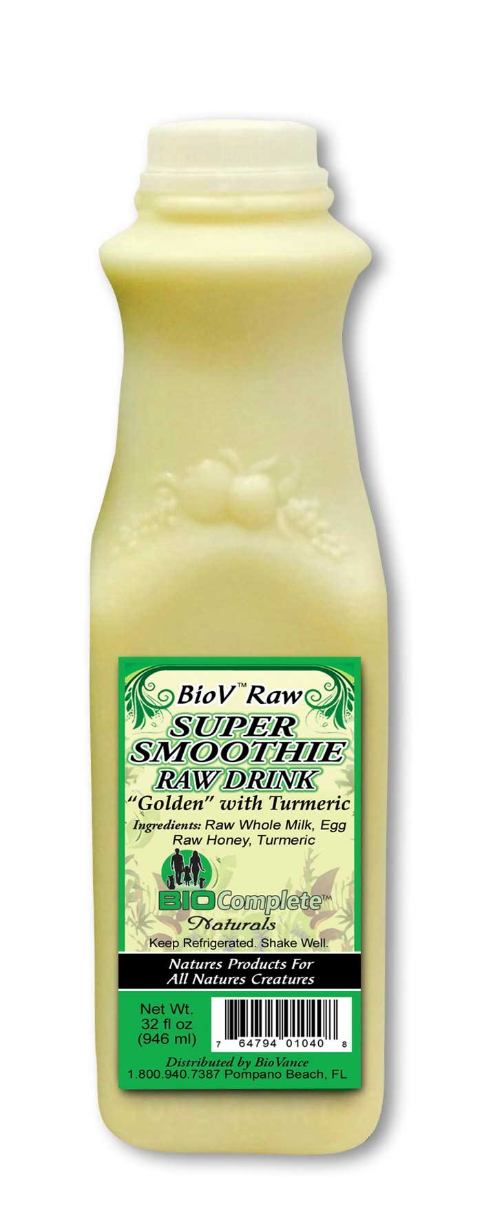 BioV Super Raw Drink Golden - 32 oz