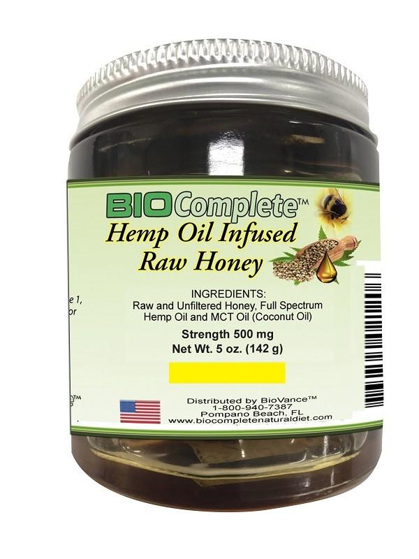 BioComplete Hemp Infused Raw Honey
