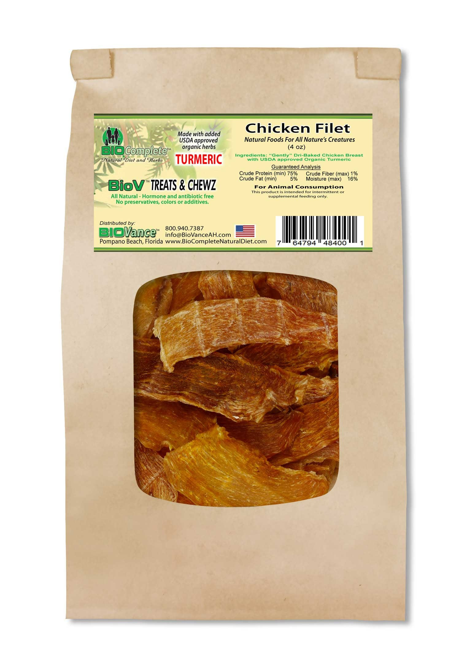BioComplete Chicken Breast Filet with added Turmeric